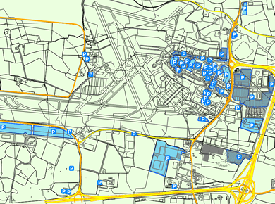 DUB Airport Parking Dublin Map
