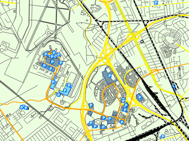 CHS Charleston Airport Parking Map