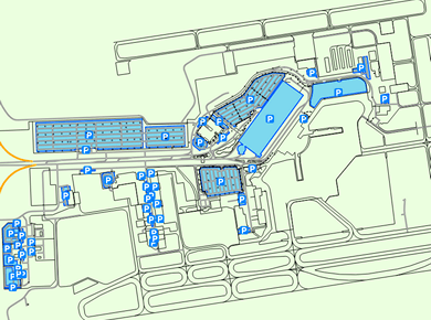 GRR Grand Rapids Gerald R. Ford Airport Parking Map