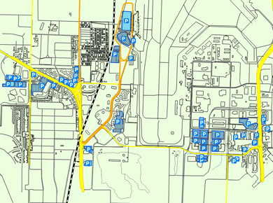 MSN Madison Dane County Airport Parking Map