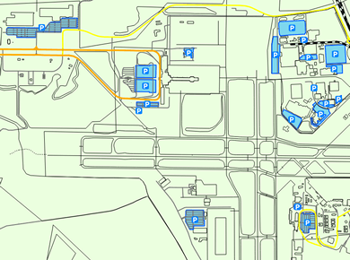 SAV Savannah Airport Parking Map