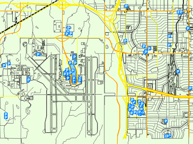 OKC Will Rogers Olkahoma Airport Parking Map