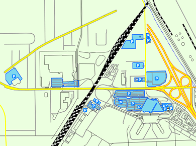 ROC Greater Rochester Airport Parking Map
