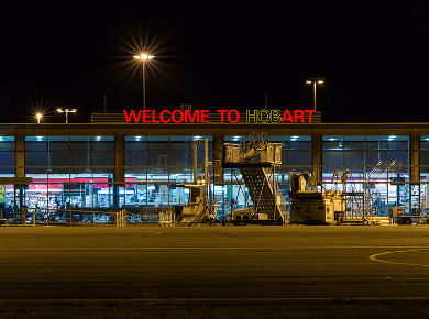 hobart international airport australia hba logo