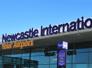 Newcastle international airport UK NCL logo