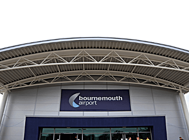 Bournemouth international airport UK BOH logo