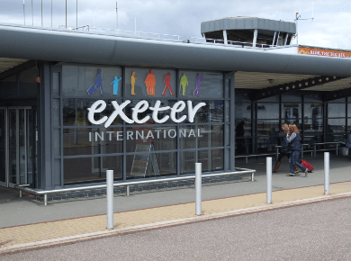 Exeter international airport EXT logo