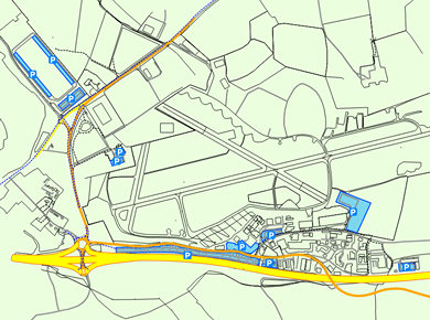 EXT Exeter Airport Parking Map