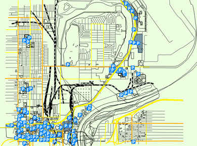 OMA Eppley Airfield Parking Map