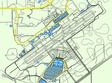 RSW Southwest Florida Airport Parking Map