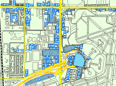 Charlotte Douglas Airport Parking Map on