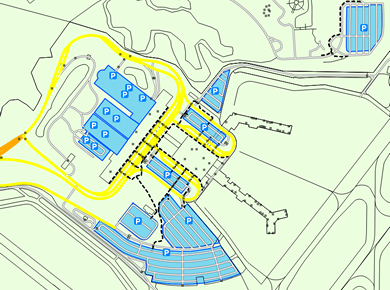 ORF Norfolk Airport Parking Map