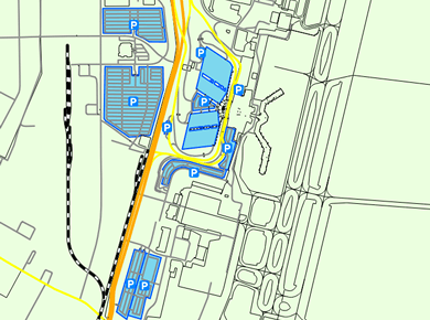 RIC Richmond Airport Parking Map