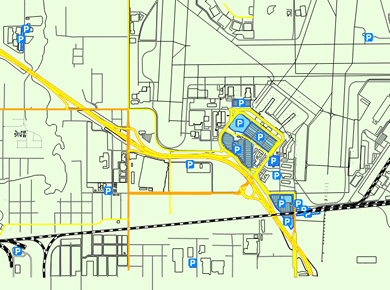 TUL Tulsa Airport Parking Map