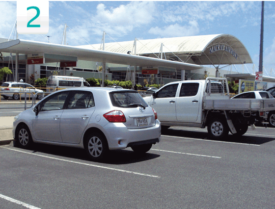 mackay airport covered parking default