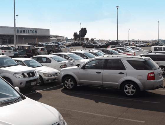 hamilton airport parking default