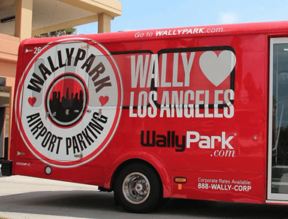 wallypark airport parking express los angeles logo