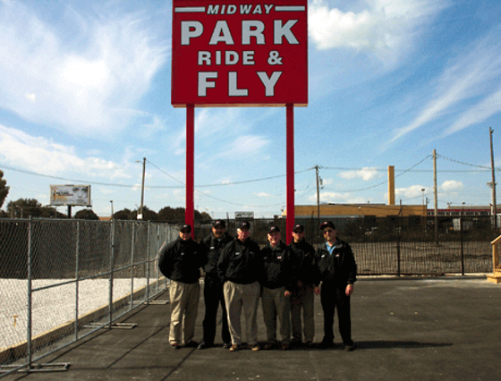 Midway park ride & fly Chicago airport parking default
