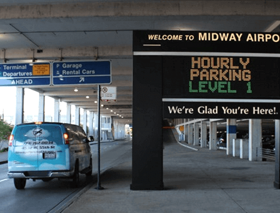 Airways parking Chicago airport logo1