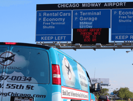 Airways parking Chicago airport logo2