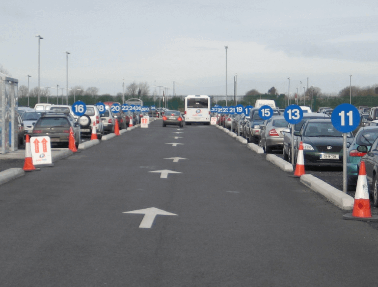 Quick Park Dublin airport parking default