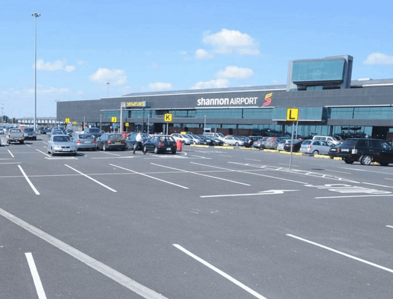 Long Term Shannon airport parking default
