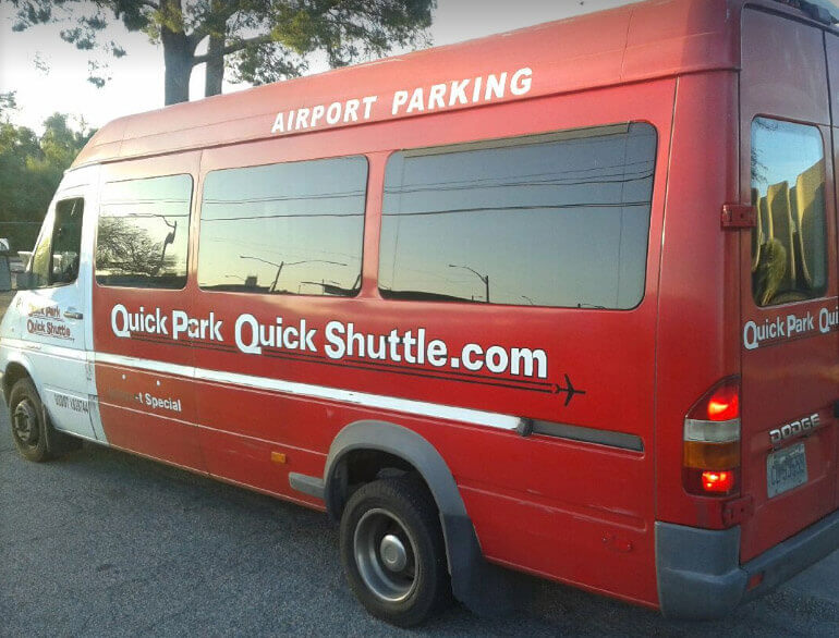 Quick park quick shuttle lot 4 Tucson airport parking logo1