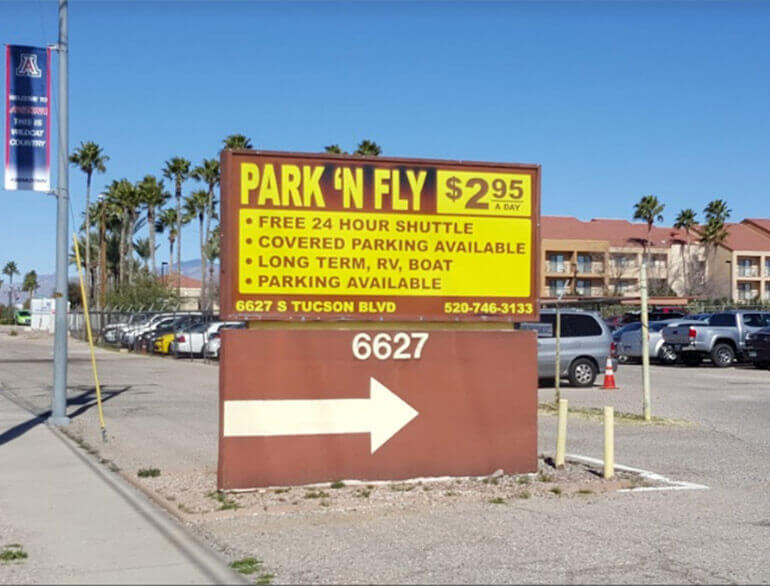 Park 'n fly Tucson airport parking default