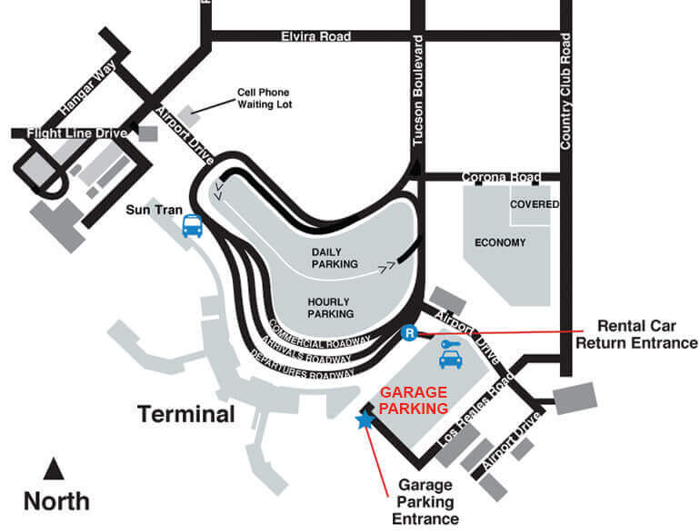 Garage airport parking Tucson logo1