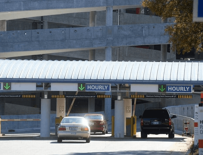 hourly deck charlotte douglas airport parking logo