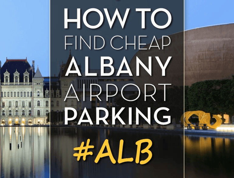 albany short-term airport parking logo