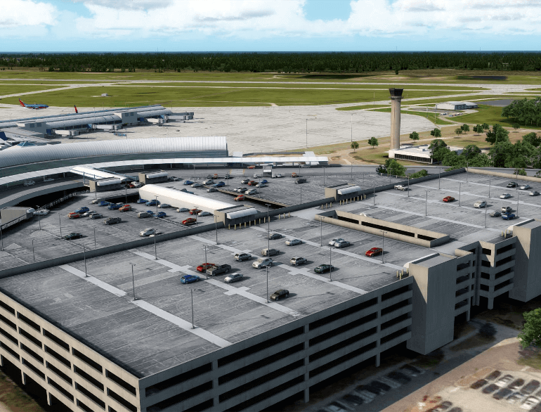 jacksonville airport daily garage parking default