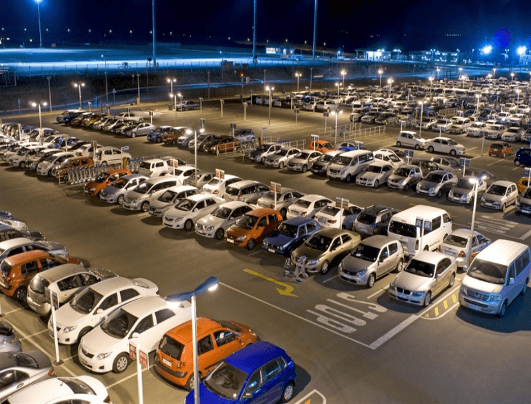King Shaka airport parking default