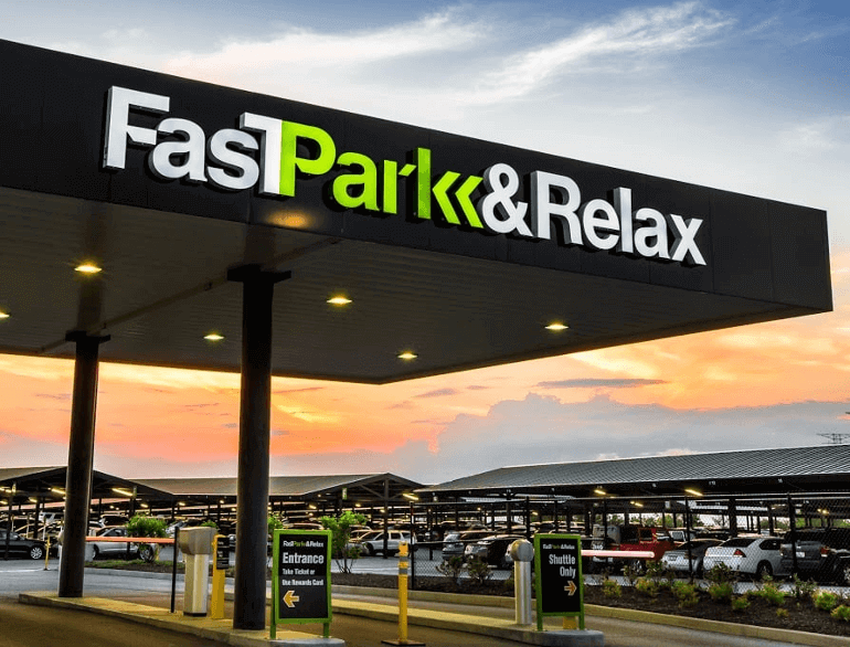 fast park & relax indianapolis airport parking logo1