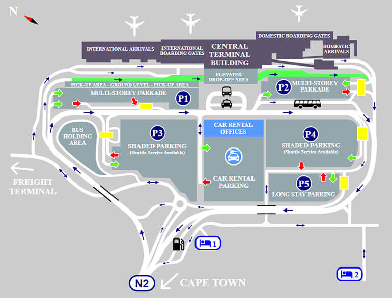 P3 shaded - short stay parking Cape Town airport logo1