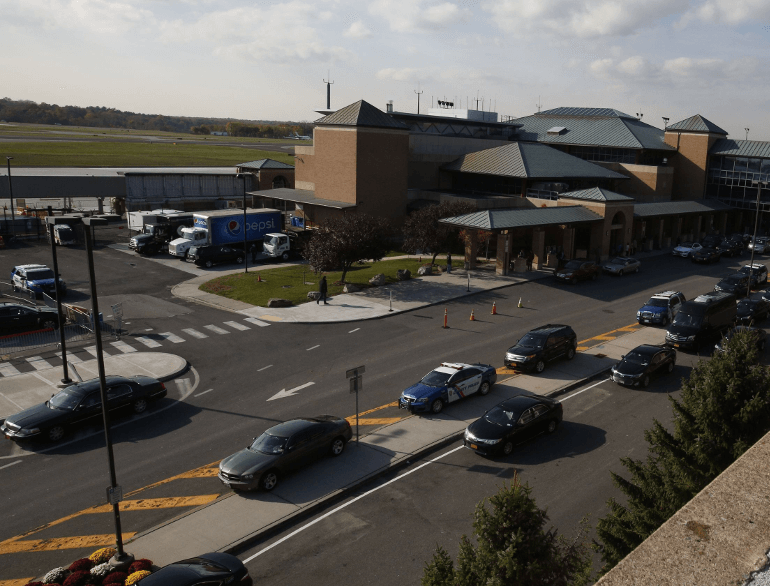 Westchester county airport parking default