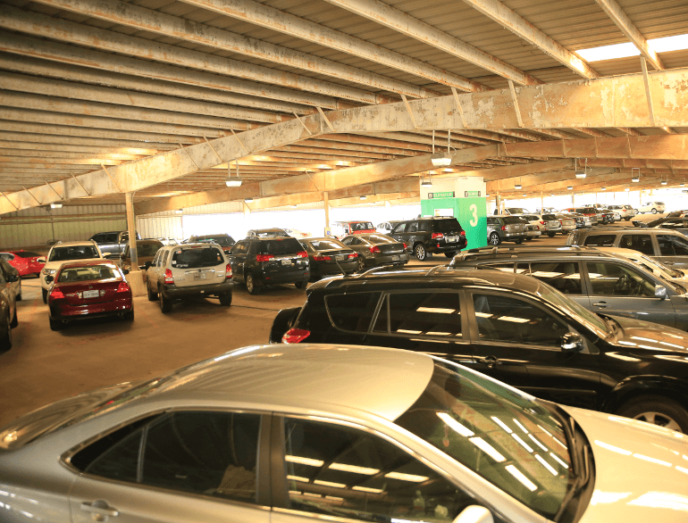 hobby airport parking blue garage default