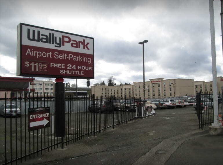 WallyPark Seattle - outdoor self-park airport parking default