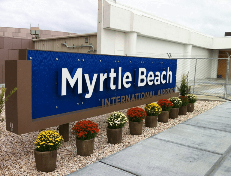 myrtle beach short term airport parking default