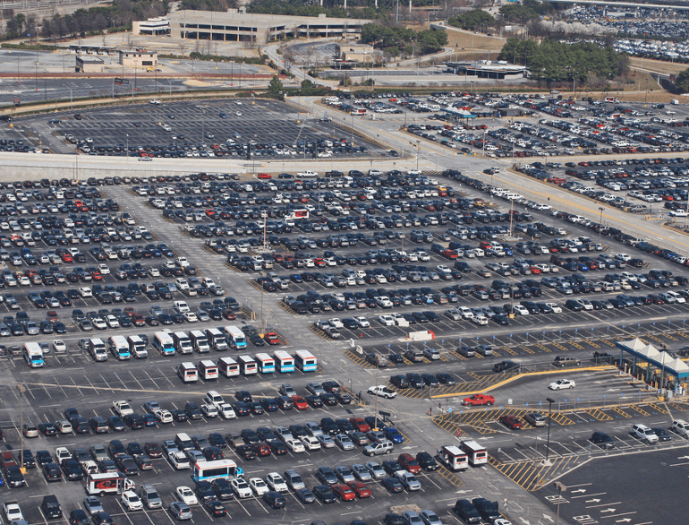 atlanta south economy airport parking logo