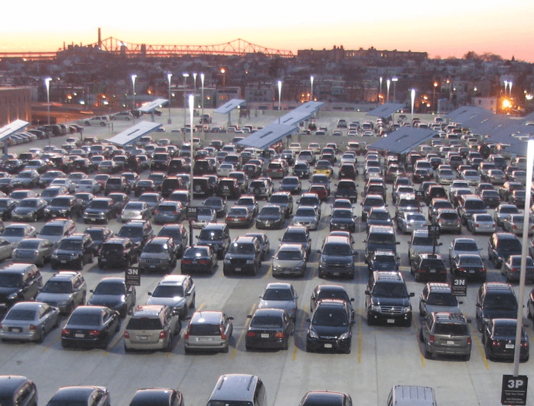 boston terminal e airport parking logo