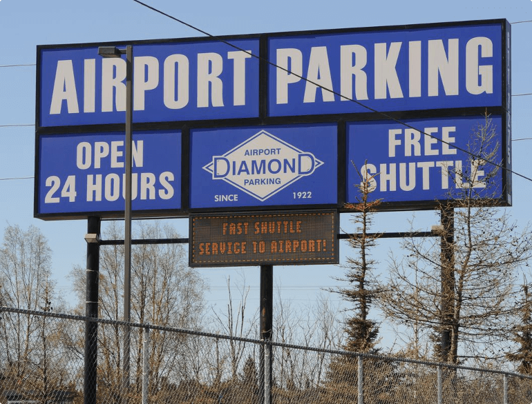 anchorage diamond airport parking logo