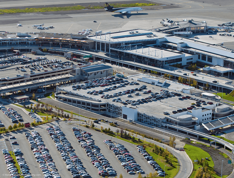 anchorage airport park ride & fly lot logo1
